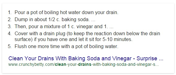kitchen drain recipe
